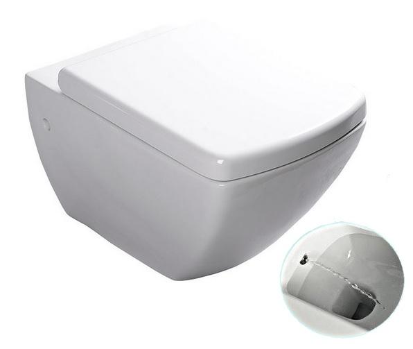 PURITY závesné WC s bidetovou tryskou