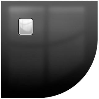 Riho BASEL štvrťkruhová sprchová vanička čierna lesklá 90 x 90 cm