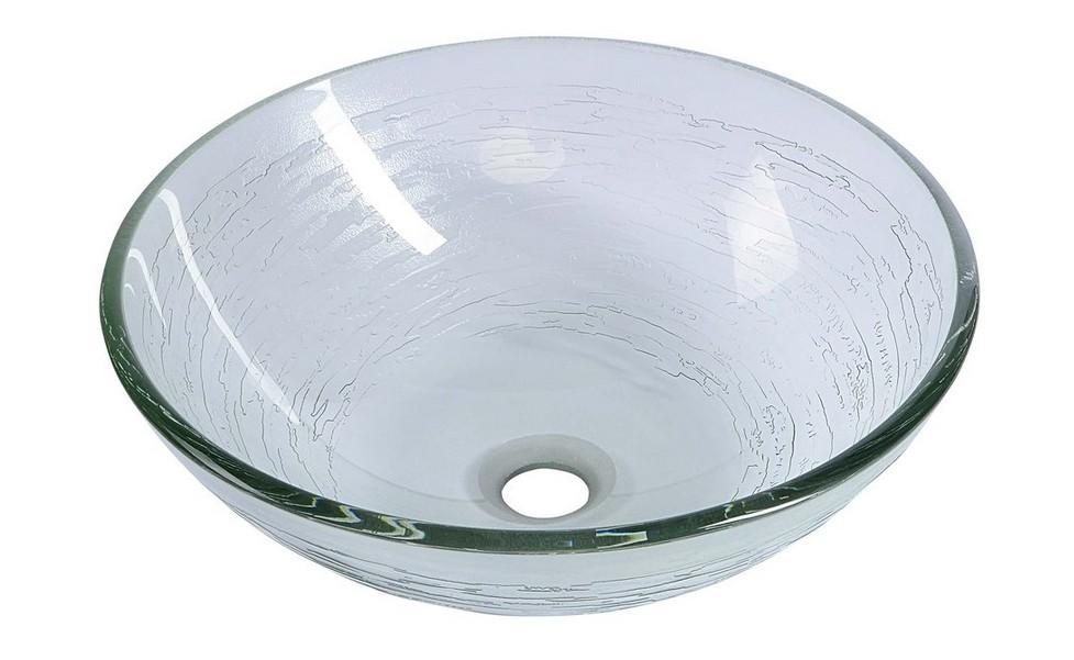 RIPPLE sklenené umývadlo na dosku 40 cm