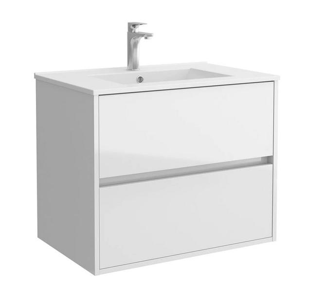 Salgar NOJA skrinka s umývadlom 70 cm lesklá biela