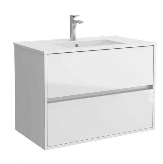 Salgar NOJA skrinka s umývadlom 80 cm lesklá biela