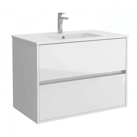 Salgar NOJA skrinka s umývadlom 90 cm lesklá biela