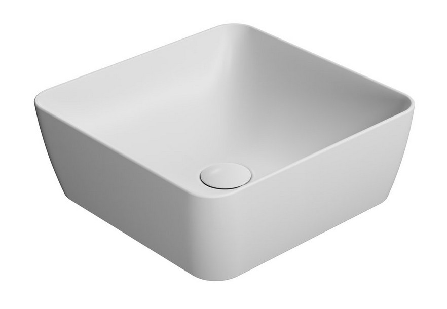 SAND umývadlo na dosku 40 cm matná biela