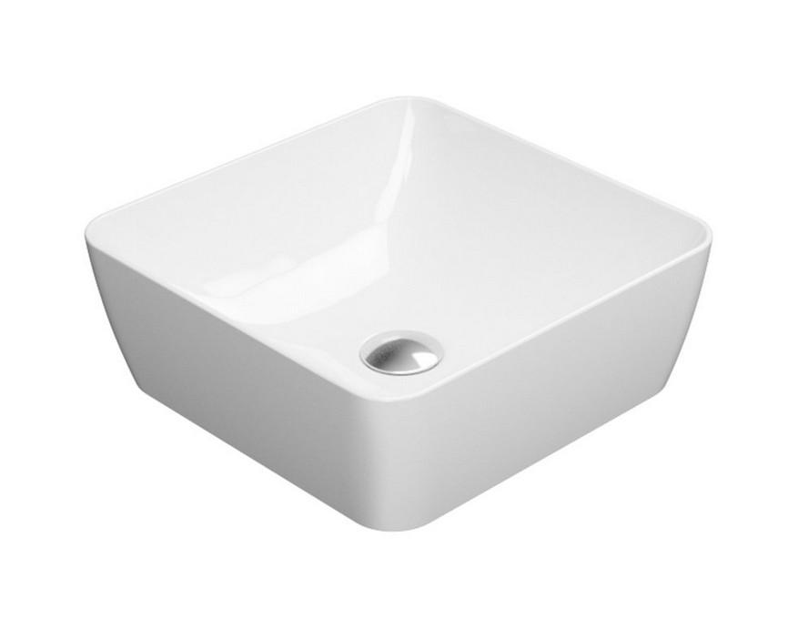 SAND umývadlo na dosku 40 cm lesklá biela