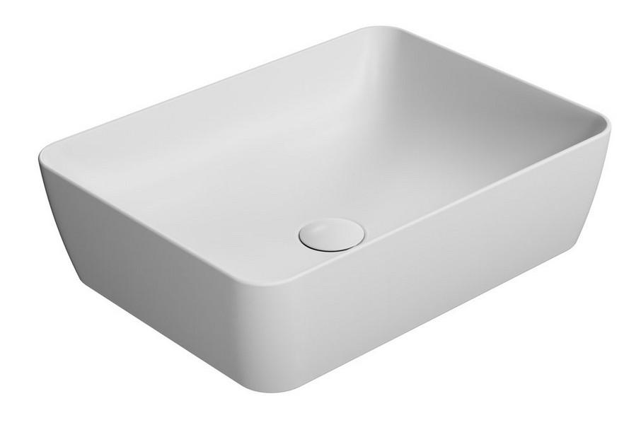 SAND umývadlo na dosku 50 cm matná biela