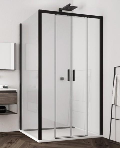 Ronal SanSwiss TOP LINE S štvorcový/obdĺžnikový sprchový kút 120/140/160 cm čierny