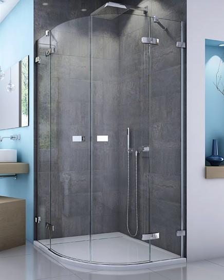SanSwiss ESCURA štvrťkruhový sprchový kút 90, 100 cm