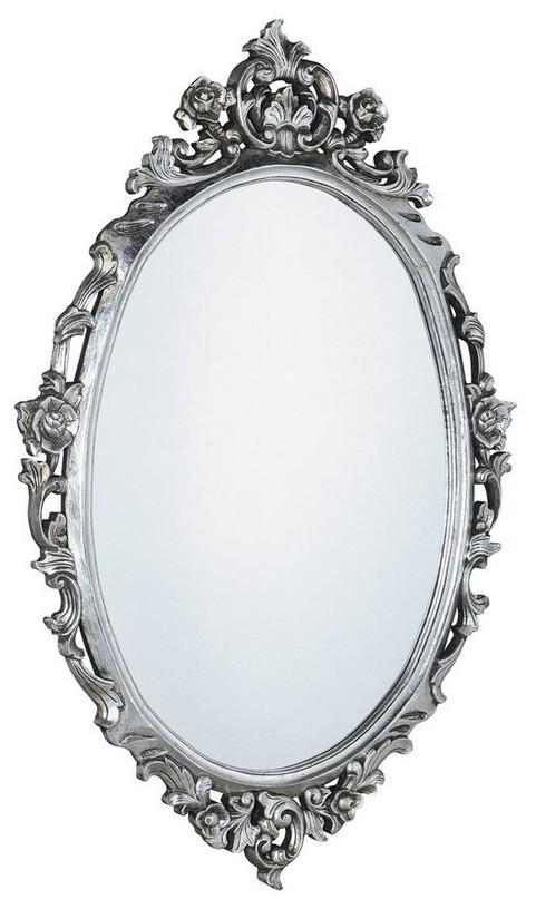DESNA retro zrkadlo v striebornom ráme