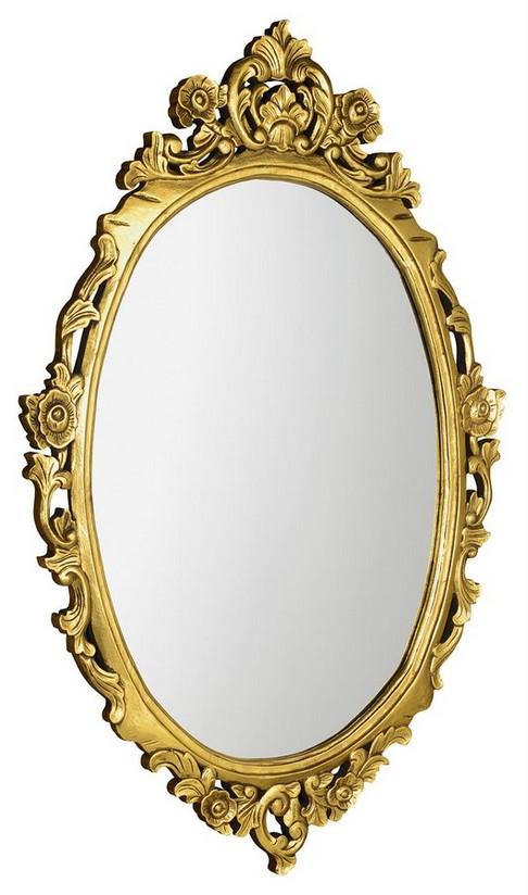 DESNA retro zrkadlo v zlatom ráme