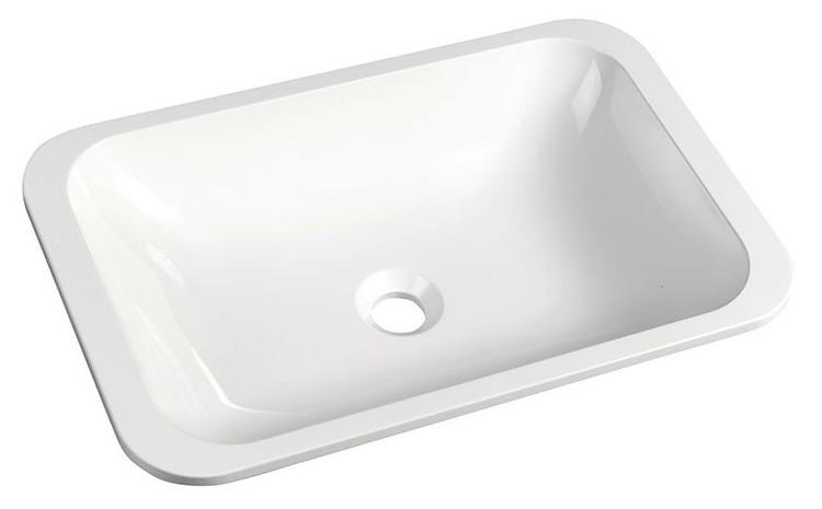 JAPURA umývadlo z liateho mramoru 55x36 cm, biele