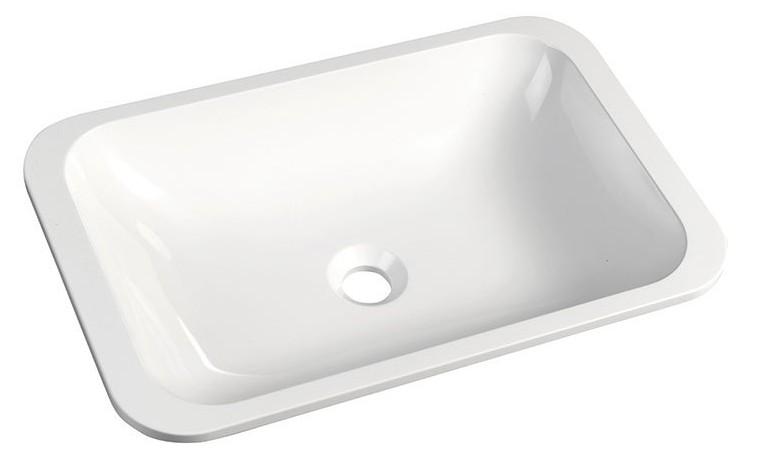 KAMA umývadlo z liateho mramoru 50x26 cm, biele