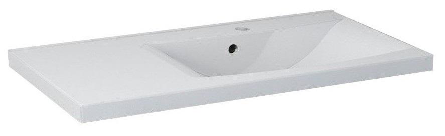 LUCIOLA umývadlo z liateho mramoru 90 cm, pravé