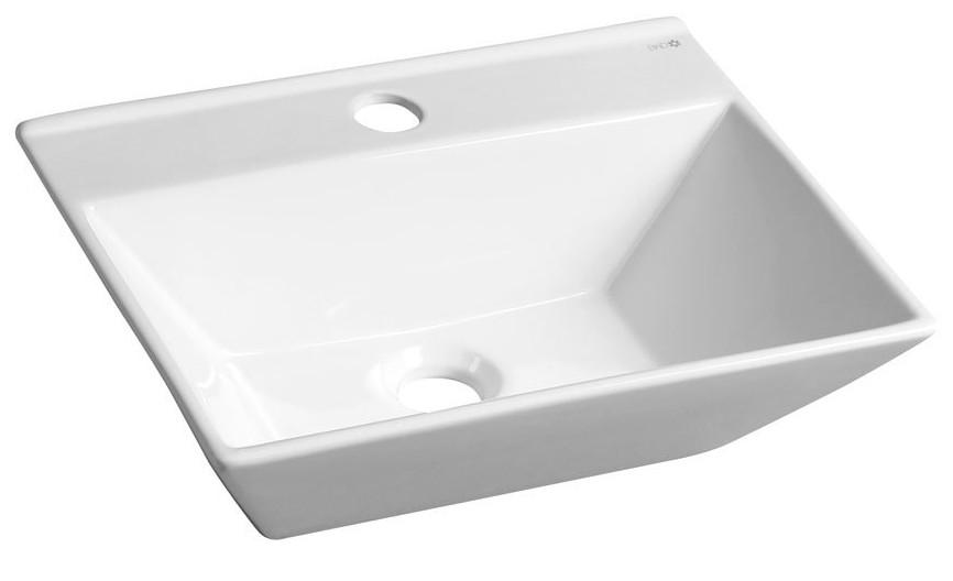 Umývadielko s otvorom pre batériu MERANDA 40 x 31 keramické