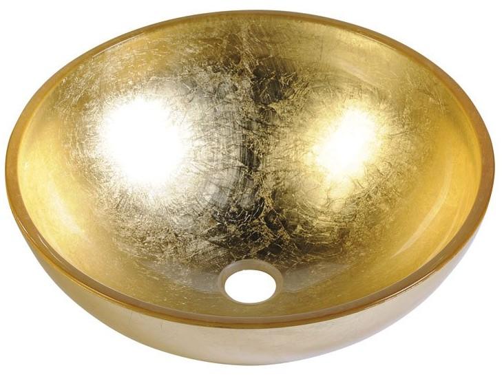 MURANO ORO umývadlo na dosku sklenené zlaté