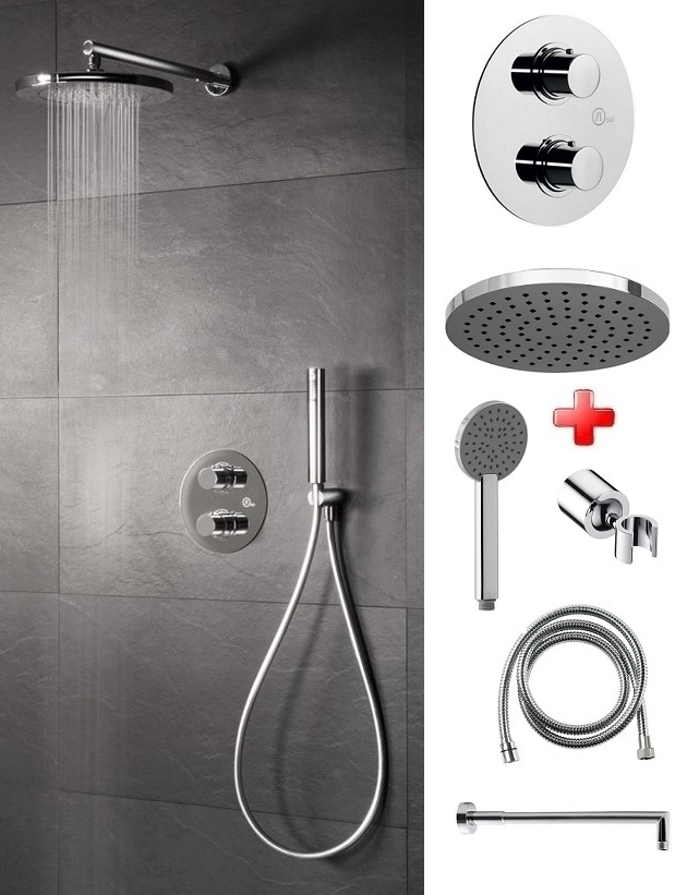 Sapho sprchový set s termostatickou batériou NELKA 6v1