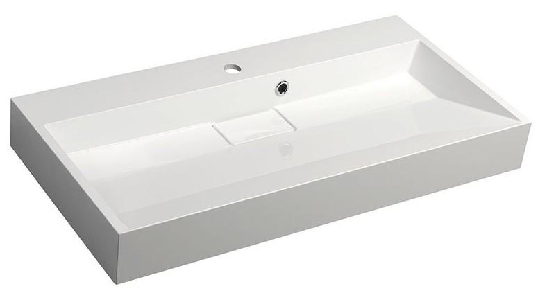 ORINOKO AMUR umývadlo z liateho mramoru 90 cm