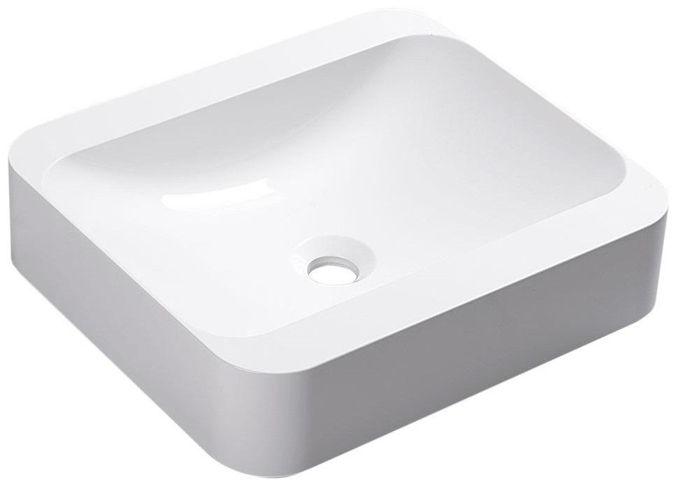 PIREUS umývadlo z liateho mramoru 45x40 cm, biele