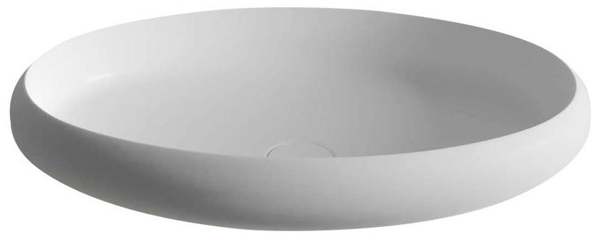 THIN umývadlo na dosku 60 cm biele matné