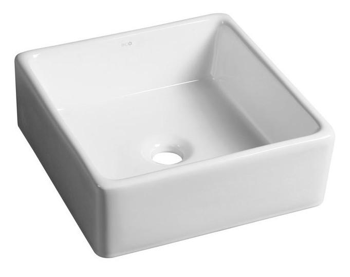 Umývadlo na dosku UBEGA 38 cm štvorcové keramické