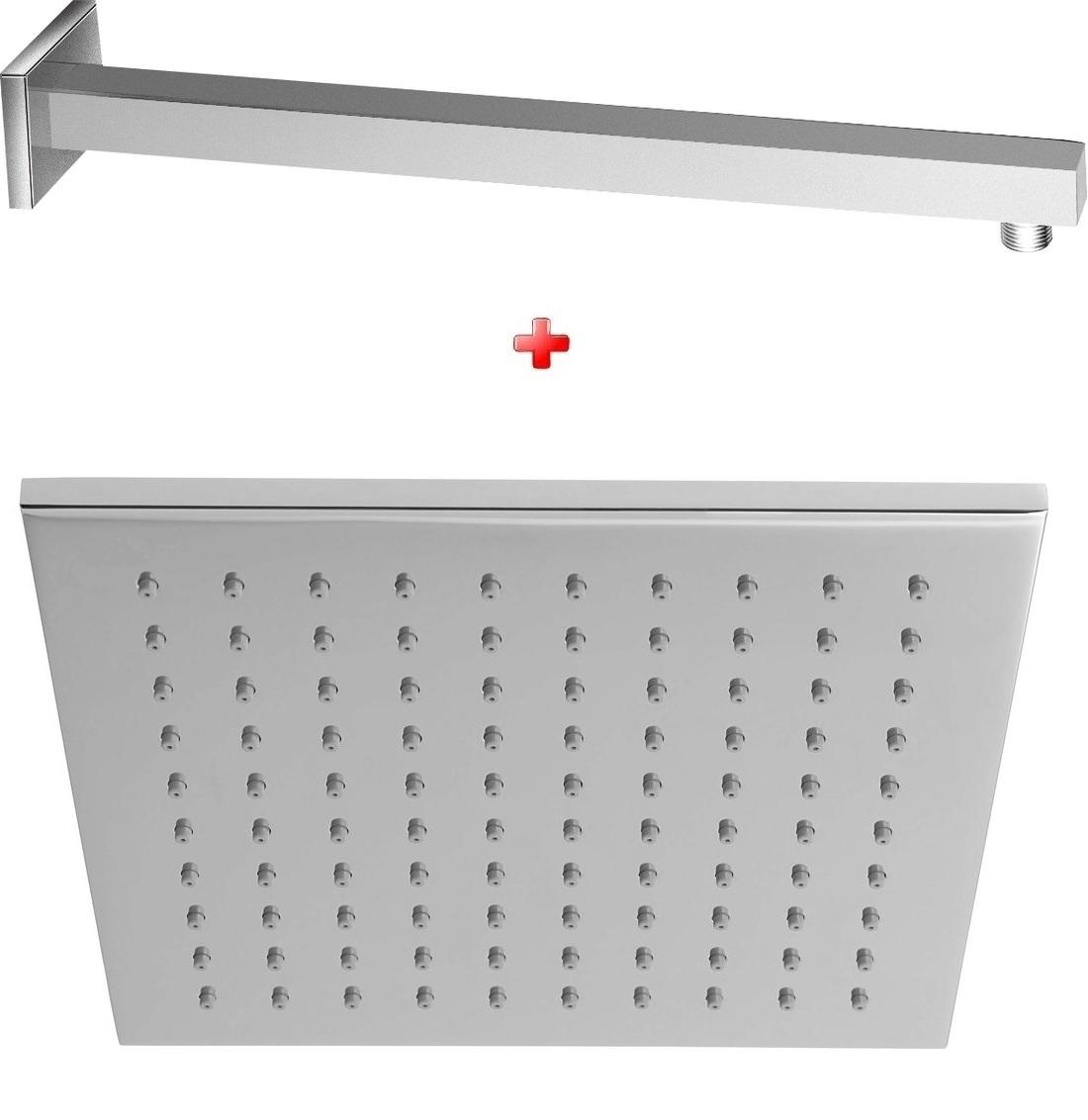ZOSTAVA hlavová sprcha 20x20 cm + sprchové ramienko 40 cm chróm