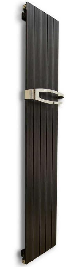 MIMOSA kúpeľňový radiátor šírka  37 cm metalická čierna