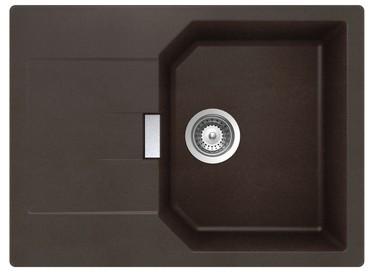 Schock MANHATTAN D-100 S granitový drez 69x51 cm Mocha