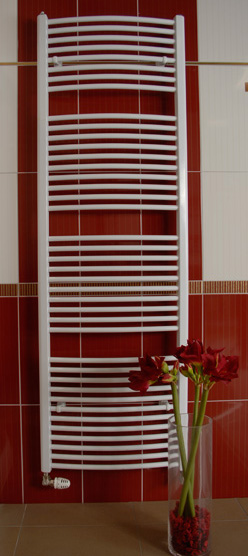 Thermal kúpeľňový radiátor typ KDO so šírkou 60 cm oblý biely