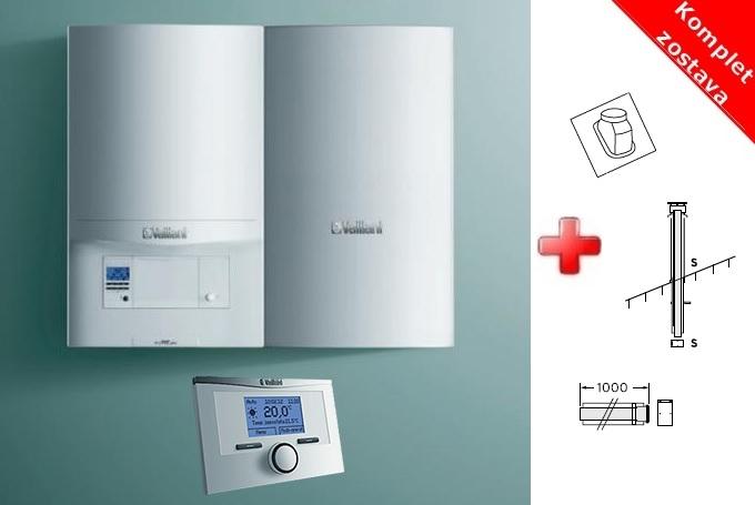 Vaillant ECOTEC PRO VU246/5-3 + zásobník 75 l + termostat + komínová zostava