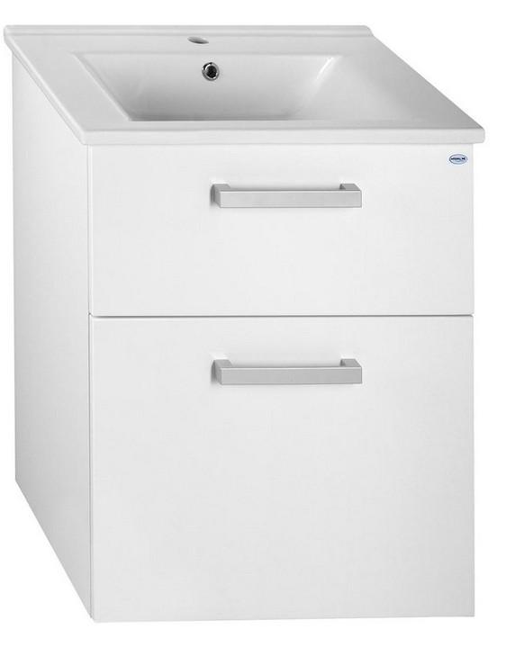 Aqualine VEGA skrinka s umývadlom 60 cm biela