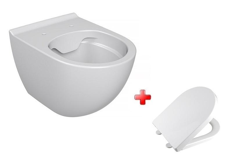 Vilan OPTIMA 1 WC misa závesná rimless + sedátko SoftClose