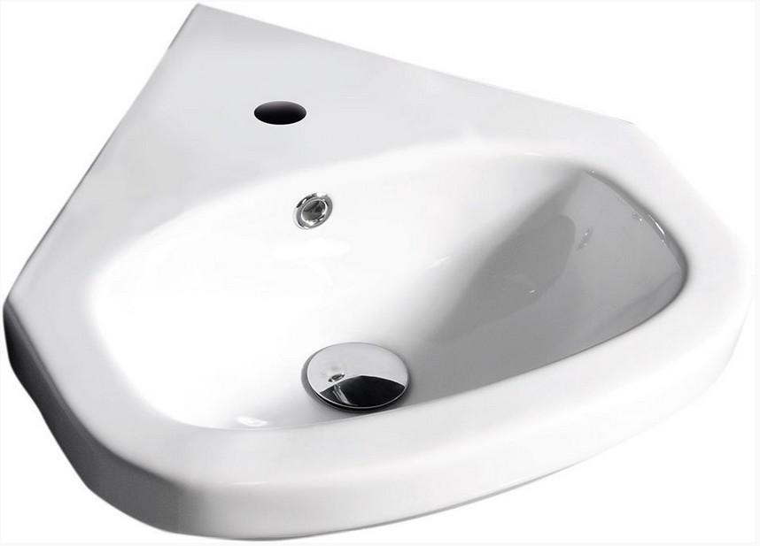Aqualine VITROYA rohové umývadlo 45 cm