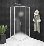 Gelco SIGMA SIMPLY štvorcový sprchový kút s posuvnými dverami 80-100 cm sklo Brick