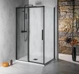 Polysan ALTIS LINE BLACK čierny sprchový kút s posuvnými dverami 110-160x80-100 cm