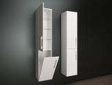 Ceramica Latina ZEN2 závesná vysoká kúpeľňová skrinka s košom 175 cm biela