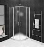 Gelco SIGMA SIMPLY štvrťkruhový sprchový kút s posuvnými dverami 80/90 cm sklo Brick