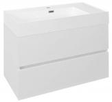ODETTA skrinka s umývadlom 85 cm biely lesk