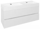 ODETTA skrinka s umývadlom 120 cm biely lesk