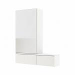 Kolo NOVA PRO zrkadlová skrinka ľavá lesklá biela 88432