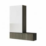 Kolo NOVA PRO zrkadlová skrinka ľavá sivý brest 88441