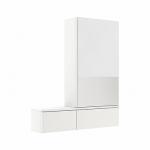 Kolo NOVA PRO zrkadlová skrinka pravá lesklá biela 88433