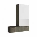 Kolo NOVA PRO zrkadlová skrinka pravá sivý brest 88442