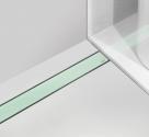 Alcaplast GL1202 650 - 1150 rošt zo skla zelený 70 - 120 cm