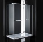 Aquatek CRYSTAL R43 obdĺžnikový sprchový kút 140 x 80 cm