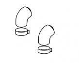 Protherm koleno priemer 80/125 – 45° kondenz.  K251K