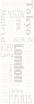 Paradyz ABRILA INSERTO MESTA matný obklad 20x60 cm biela