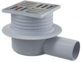 Alcaplast podlahový odtok 10 cm so zápachovou úzáverou bočná, APV26 nerez