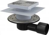 Alcaplast podlahový odtok 15 cm so zápachovou úzáverou bočná, APV3444 nerez