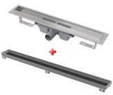 Alcaplast APZ6 Professional celoantikórový podlahový žľab 120 cm + rošt pre vloženie dlažb