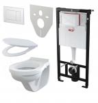 Alcaplast SET 5 v 1: Sadromodul + WC misa + WC sedátko + ovlád.tlačítko + izolačná doska
