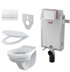 Alcaplast SET 5 v 1: Alcamodul + WC misa + WC sedátko + ovlád.tlačítko + izolačná doska